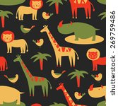 seamless pattern with cute... | Shutterstock .eps vector #269759486