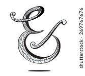 ampersand in hand drawn style... | Shutterstock .eps vector #269767676