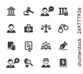 justice icons set. | Shutterstock .eps vector #269777936