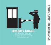security guard with closed... | Shutterstock .eps vector #269778818