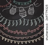 hand drawn vector garlands ... | Shutterstock .eps vector #269779325