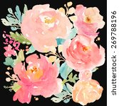 Watercolor Peony Background...