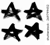 vector grunge stars set. brush...