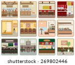 various restaurants | Shutterstock .eps vector #269802446