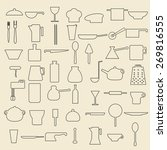 cooking items linear icons set. ... | Shutterstock .eps vector #269816555