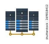 data  center  network  server... | Shutterstock .eps vector #269818412