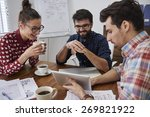 happy time with colleagues at... | Shutterstock . vector #269821922