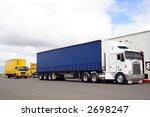 busy trucking yard