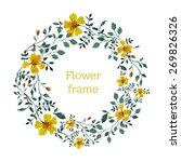 watercolor floral round frame  | Shutterstock .eps vector #269826326