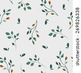 vector pattern with flowers and ... | Shutterstock .eps vector #269826338