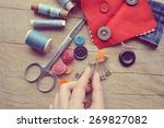 thread for sewing  supplies and ... | Shutterstock . vector #269827082