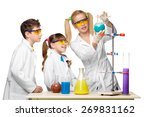 teens and teacher of chemistry...   Shutterstock . vector #269831162