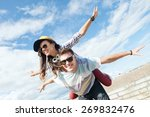 summer holidays and teenage... | Shutterstock . vector #269832476