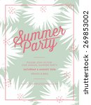 summer party invitation card... | Shutterstock .eps vector #269853002