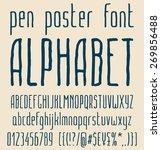 sans serif hand drawn elegant...   Shutterstock .eps vector #269856488