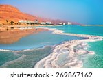 Dead Sea Salt Shore. Ein Bokek...