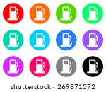 petrol vector icons set | Shutterstock .eps vector #269871572