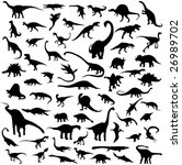 dinosaur silhouette contour | Shutterstock .eps vector #26989702