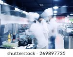modern kitchen and chefs in... | Shutterstock . vector #269897735