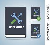 user guide manual book... | Shutterstock .eps vector #269900468