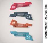 vector infographic origami... | Shutterstock .eps vector #269901488