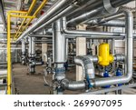 interior industrial gas boiler...