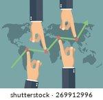 market manipulation concept in... | Shutterstock .eps vector #269912996