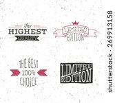 limited edition hand lettering... | Shutterstock .eps vector #269913158