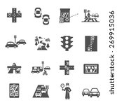 traffic icons black set with... | Shutterstock .eps vector #269915036