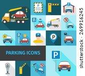 parking garage and car service...   Shutterstock .eps vector #269916245