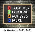 teamwork  | Shutterstock . vector #269917622
