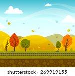 game 2d autumn park landscape... | Shutterstock .eps vector #269919155