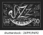 vector poster of jazz festival... | Shutterstock .eps vector #269919692