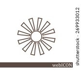 sun  web icon. vector design | Shutterstock .eps vector #269933012