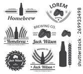 beer brewery emblems  labels in ... | Shutterstock . vector #269933498