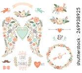 vintage angel wing vintage... | Shutterstock .eps vector #269938925