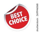 best choice red vector sticker | Shutterstock .eps vector #269946068
