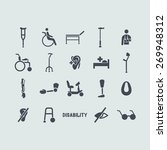 set of disabled icons | Shutterstock .eps vector #269948312