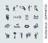 set of selfie icons | Shutterstock .eps vector #269948732