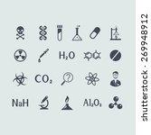 set of chemistry icons | Shutterstock .eps vector #269948912