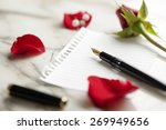 Small photo of blank rose letter