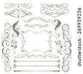 set of decorative  elements for ... | Shutterstock .eps vector #269959256