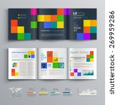black brochure template design... | Shutterstock .eps vector #269959286