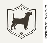Stock vector  dog pet logo vet clinic logo design template vector illustration 269976695