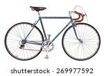 Vintage Bike Blue Bicycle Blue...