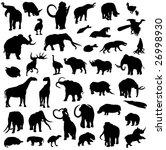 silhouette outline of... | Shutterstock .eps vector #26998930