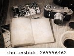 artwork in retro style  old... | Shutterstock . vector #269996462