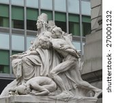 Small photo of Statues at Alexander Hamilton U.S. Custom House, Manhattan, New York City, New York State, USA