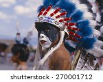Native American Boy With...