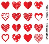 vector heart shapes | Shutterstock .eps vector #270017582